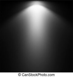 projector., luz, vector, ilustración, rayo
