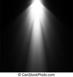 projector., luz, vetorial, ilustração, viga