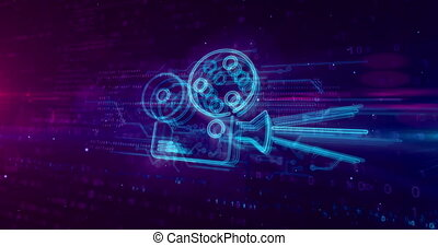 Projector movie player hologram concept
