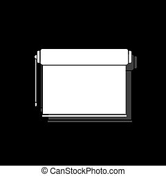 Projector roller screen icon flat