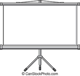 projector screen (empty white projector screen, blank ...