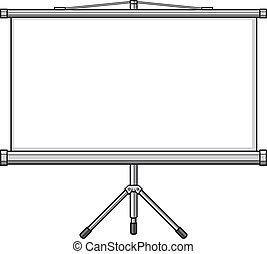 projector screen (empty white projector screen, blank...