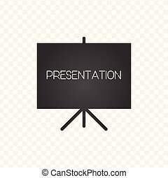 Projector screen icon. presentation sign. Vector illustration