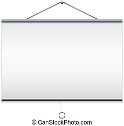 Projector screen. Isolated on white EPS10 vector...