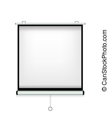 Projector screen white illustration