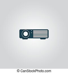 Projector sign icon - Projector. Flat web icon or sign...