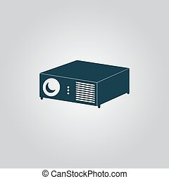 Projector sign icon - Projector. Flat web icon, sign or...