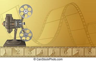 projector - digital illustration of a vintage projector