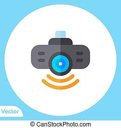 Projector vector icon sign symbol