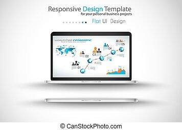 projects., empresa / negocio, moderno, dispositivos, included., fpr, webtemplates, su, mockups