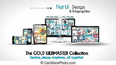 projects., firma, moderne, anordninger, included., fpr, webtemplates, din, mockups