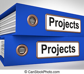 Projects Folders Mean Tasks Planning And Ventures - Projects...