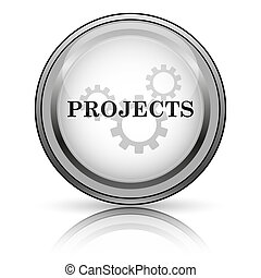 Projects icon. Internet button on white background.