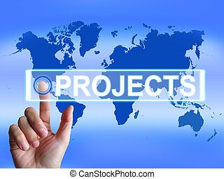 Projects Map Indicating International or Internet Task or Activity