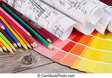 Projects of houses with color palette - Projects of houses...