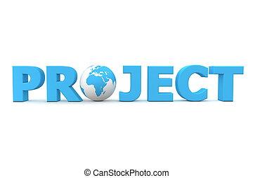 projekt, świat, błękitny