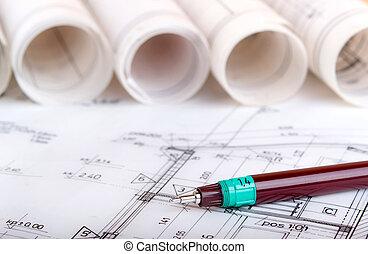 projekt, architektonisch