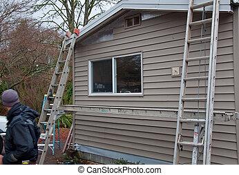 projekt, außen, renovierung, daheim