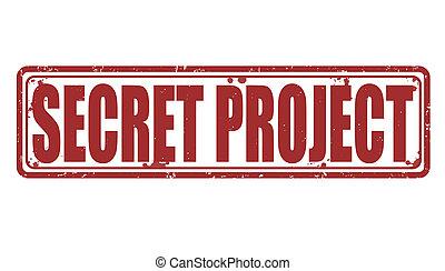projekt, briefmarke, geheimnis