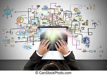 projekt, handlowy, twórczy