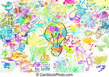 projekt, kreativ, geschaeftswelt