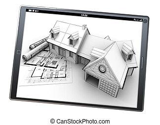 projekt, mieszkaniowy, app