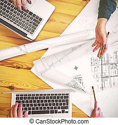 projekt, neu , planung, design, mannschaft
