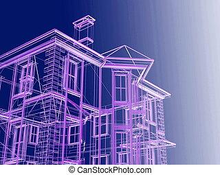 projekt, od, nowy, dwelling-house