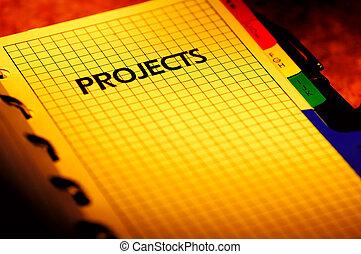 projekt, planer