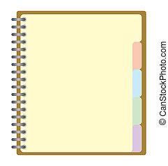projekt, planläggare, bok, affär