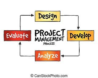 projekt, proces, ledelse