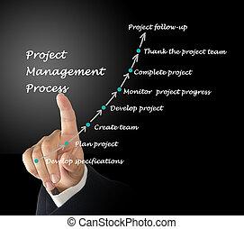 projekt, prozess, geschäftsführung