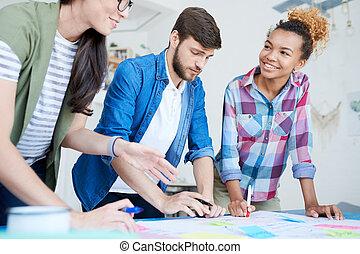 projekt, twórczy, planowanie, młodzież