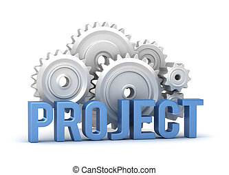 projekt, wort, mit, zähne, in, backgroun