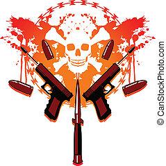 projektiler, blod