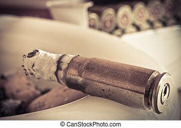 projektiler, cigarrer, abd, askkopp