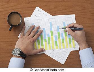 projektmanager, analysieren, daten