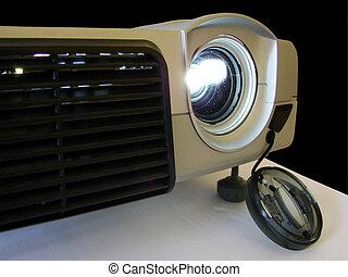 projektor, arbeitende , lcd