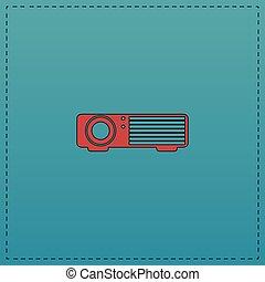 projektor, edv, symbol