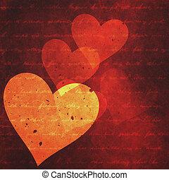 projektować, abstrakcyjny, tła, twój, valentine