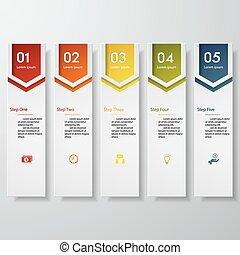 projektować, chorągiew, liczba, czysty, szablon