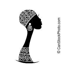 projektować, głowa, sylwetka, twój, samica