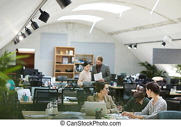 projektować, handlowe biuro, ludzie
