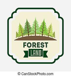 projektować, las