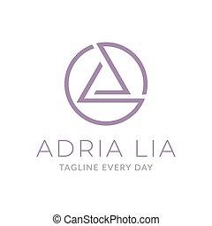 projektować, litera, logo, trójkąt, aluminium