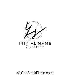 projektować, logo, początkowy, pismo, ys