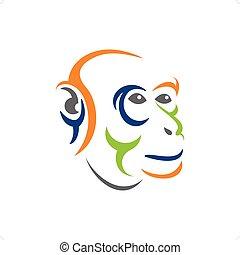 projektować, małpa