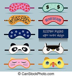 projektować, maski, ilustracja, spanie