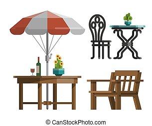 projektować, meble, ogród