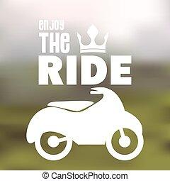 projektować, Motocykl, jeździec